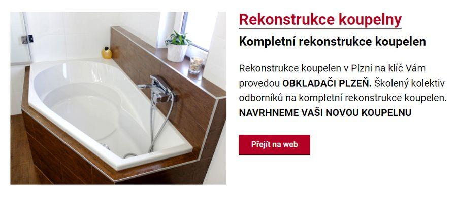 Rekonstrukce koupelen v Plzni na klíč Vám provedou OBKLADAČI PLZEŇ. Školený kolektiv odborníků na kompletní rekonstrukce koupelen. NAVRHNEME VAŠI NOVOU KOUPELNU